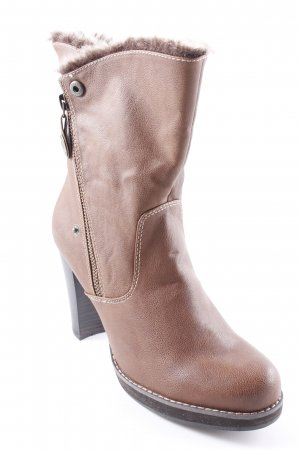 s.Oliver Absatz Stiefel braun Casual-Look