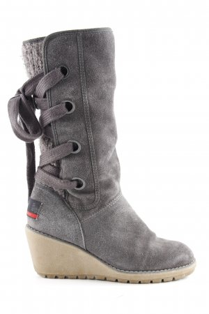 s.Oliver Absatz Stiefel dunkelgrau Casual-Look