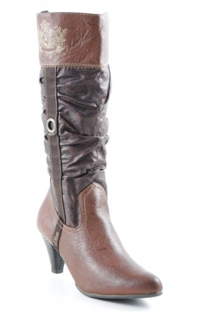 s.Oliver Heel Boots themed print street-fashion look