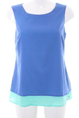 s.Oliver ärmellose Bluse blau-mint Casual-Look