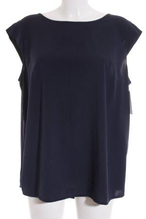 s.Oliver ärmellose Bluse dunkelblau schlichter Stil