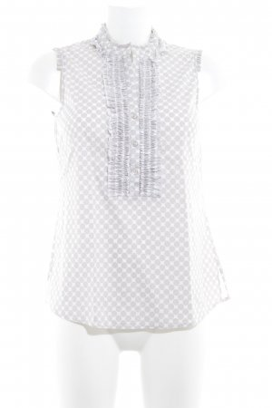 s.Oliver ärmellose Bluse hellbeige-weiß Punktemuster Casual-Look