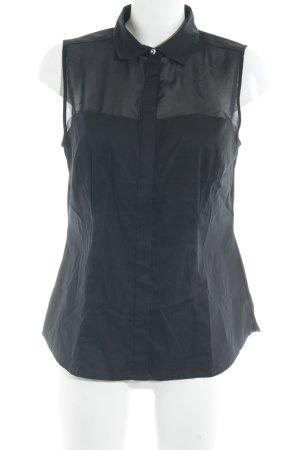 s.Oliver ärmellose Bluse schwarz Casual-Look
