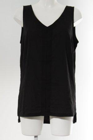 s.Oliver ärmellose Bluse schwarz Elegant