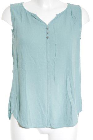 s.Oliver ärmellose Bluse türkis-mint schlichter Stil