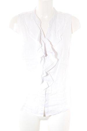 s.Oliver Mouwloze blouse wit simpele stijl