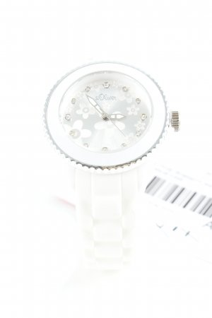 s.Oliver Analog Watch white flower pattern casual look
