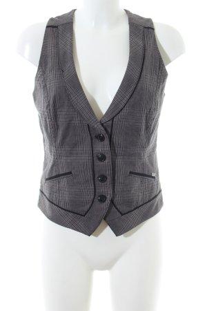 s.Oliver Gilet de costume gris clair motif à carreaux style d'affaires