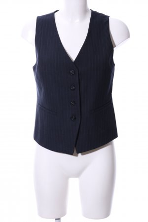 s.Oliver Waistcoat blue-light grey striped pattern business style