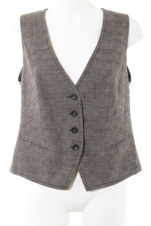 s.Oliver Waistcoat bronze-colored allover print business style