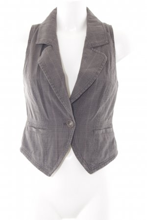 s.Oliver Waistcoat light brown-grey check pattern business style