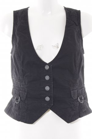 s.Oliver Waistcoat black casual look