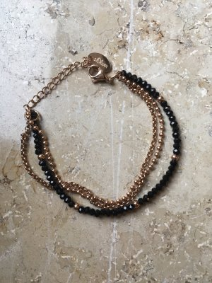 s.Oliver Bracelet noir-or rose