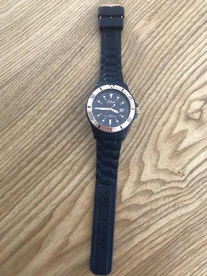 s.Oliver Analoog horloge roségoud-donkerblauw
