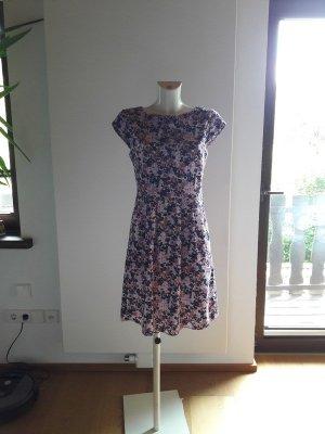 s.Oliver Babydoll-jurk donkerblauw-roze Katoen