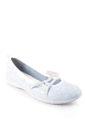 s.Oliver Ballerinas blassblau-weiß Casual-Look