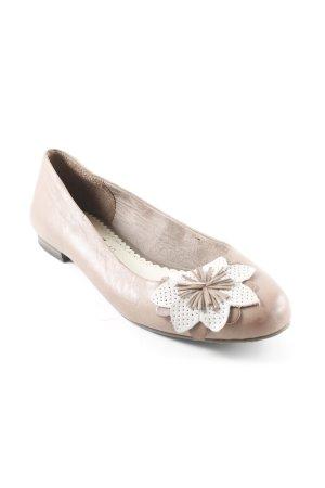 s.Oliver Ballerinas mit Spitze graubraun-hellbeige Casual-Look