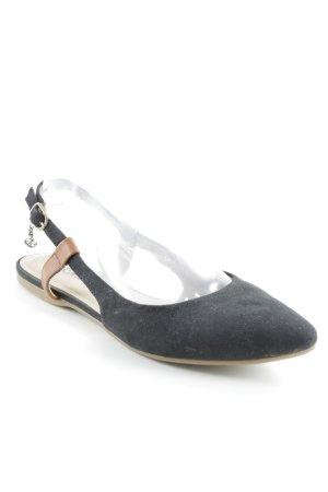 s.Oliver Ballerinas mit Spitze schwarz-beige Casual-Look