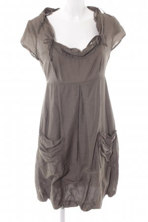 s.Oliver Balloon Dress grey brown extravagant style