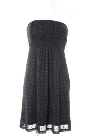 s.Oliver Bandeau Dress black spot pattern elegant
