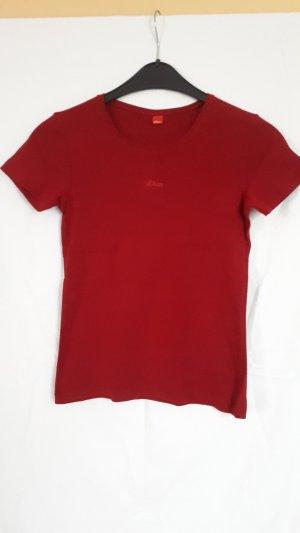 S.Oliver Basicshirt rot, Größe 34
