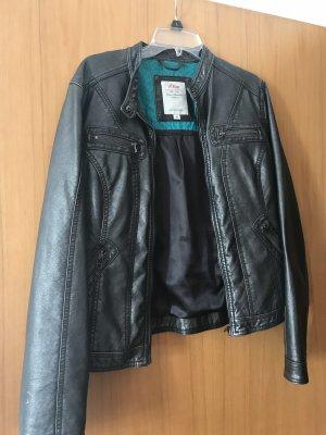 s.Oliver Chaqueta de motociclista gris-negro