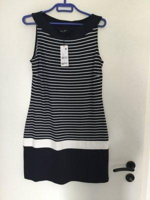 S.Oliver Black Label Kleid marineblau mit streifen