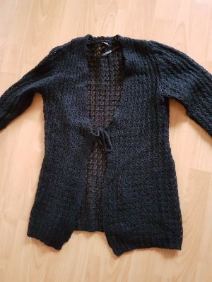 S.Oliver Black Label Mohair-Strickjacke, schwarz