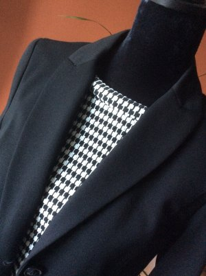 S.Oliver Black Label Shirt mit 3/4 Arm in schwarz /weiss in Gr. 38