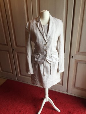 s.Oliver Ladies' Suit beige-oatmeal linen