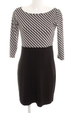 s.Oliver Kokerjurk zwart-wit zigzag patroon zakelijke stijl