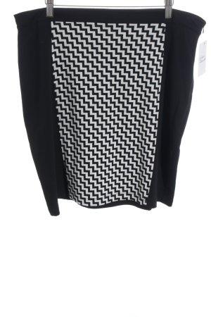 s.Oliver Bleistiftrock schwarz-weiß abstraktes Muster Casual-Look