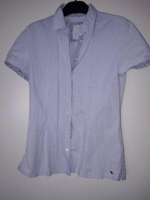 s.oliver Bluse kurzarm hellblau gestreift gr. 34