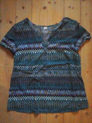 S.oliver Bluse Tunika Shirt grün Gr. 36 Azteken
