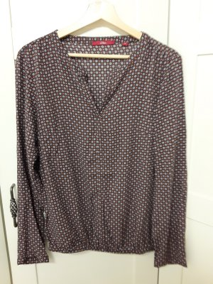 s.Oliver Bluse, weinrot mit Muster, Gr 36