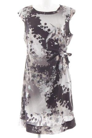 s.Oliver Robe chemisier blanc-noir motif de fleur style simple