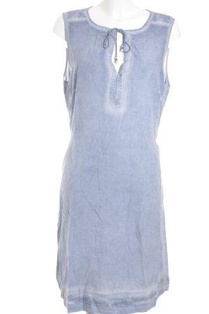 s.Oliver Blusenkleid hellblau-wollweiß Washed-Optik