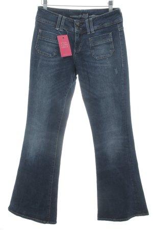 s.Oliver Boot Cut Jeans dunkelblau Bleached-Optik