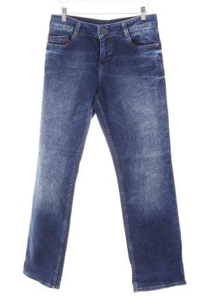 s.Oliver Jeans bootcut bleu foncé-bleu acier lavage à l'acide