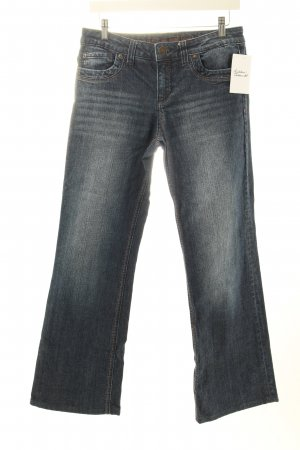 s.Oliver Boot Cut Jeans dunkelblau-wollweiß Casual-Look