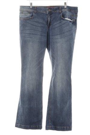 s.Oliver Boot Cut Jeans stahlblau-blassblau Hippie-Look
