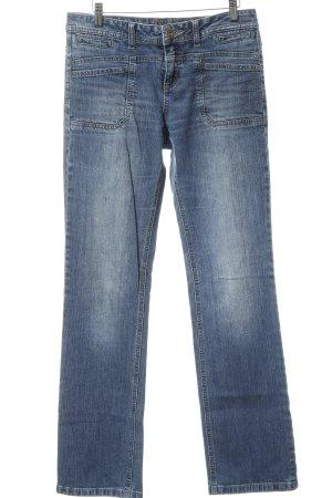 s.Oliver Boot Cut Jeans stahlblau Farbverlauf Boyfriend-Look