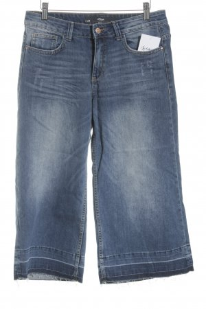 s.Oliver Boot Cut Jeans stahlblau Used-Optik