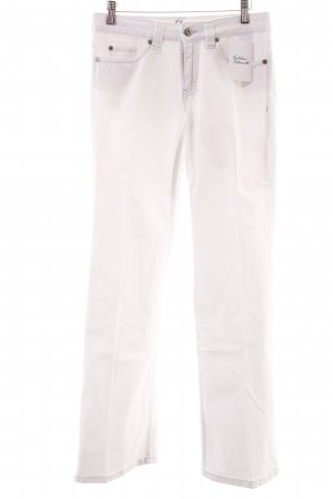 s.Oliver Boot Cut Jeans weiß Casual-Look