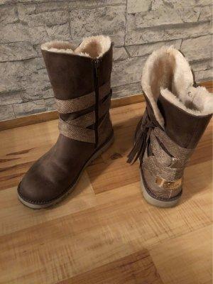 s.Oliver Snow Boots camel-light brown