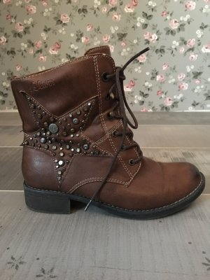 s.Oliver Boots brown-cognac-coloured
