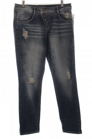 s.Oliver Boyfriend Jeans blue distressed style