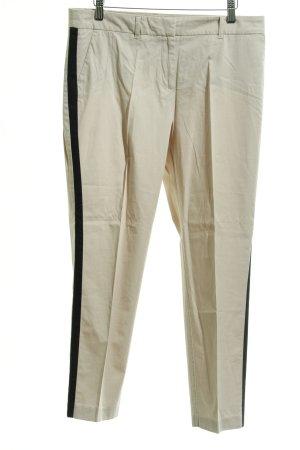 s.Oliver Pantalone a pieghe crema-nero stile professionale