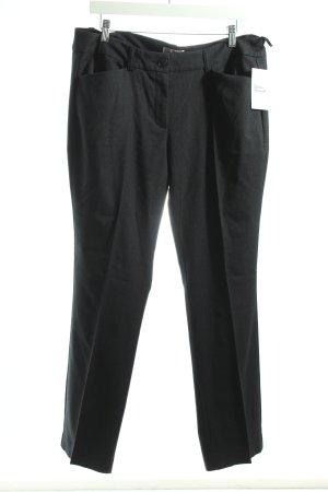 s.Oliver Pantalon à pinces bleu foncé-gris moucheté style classique