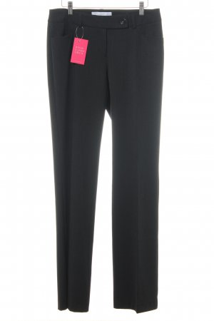s.Oliver Pleated Trousers dark brown pinstripe business style